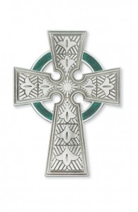 Celtic Pewter Wall Cross, 4.75 inch [CRMV003]