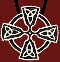 "Celtic Trinity Cross Pendant - 1 1/4""H [TSG1007]"