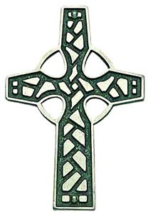 Celtic Wall Cross in Pewter - 3.25 inches High [TCG0090]