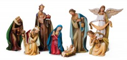 Resin Nativity Set - 12 1/2 inch [RM0329]
