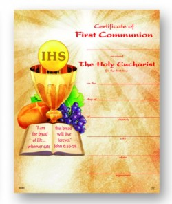 Certificate of First Communion Bread of Life [HRC20080]