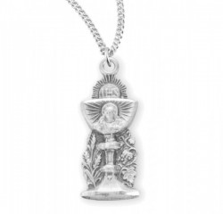 Chalice Figure with Sacred Heart of Jesus Necklace [HMM3368]