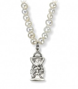 Chalice and Pearls First Communion Necklace [HMM3375]