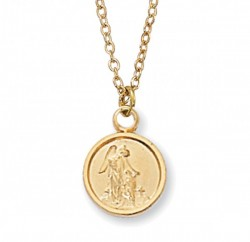 Child Size Guardian Angel Goldtone Medal [MV2001]