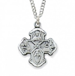 Child Size Sterling Silver 4-Way Medal [CM0505]