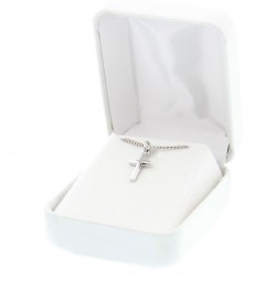 "Girl's Sterling Sliver Cross Pendant with 16"" [MVFC1002]"