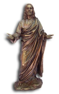 Christ Statue in Bronzed Resin - 12 inches [GSCH014]