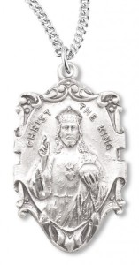 Christ the King Sterling Silver Pendant [HM0723]
