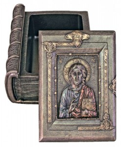 Christ the Teacher Keepsake Box in Bronzed Resin [GSCH1070]
