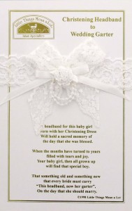 Christening Headband to Wedding Garter [CFSLTMA002]