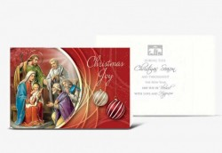 Christmas Joy Holy Family Christmas Card Set [HRCR8110]