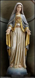 Church Size Immaculate Heart of Mary 48 Inch High Statue [CBST073]