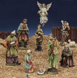 Church Size Nativity Set with 10 Pieces 27 Inch Scale [RM7003]