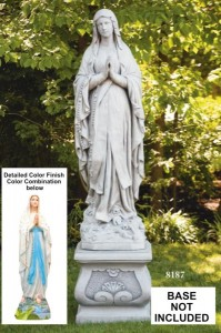 Church Size Our Lady of Lourdes Statue 60 [MSA3027]