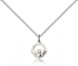 Child's Open Cut Claddagh Pendant [BC0074]