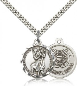 Coast Guard St. Christopher Medal - Nickel Size [CM2119]