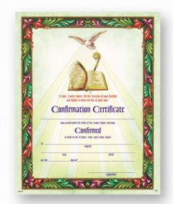 Come Holy Spirit Confirmation Certificate [HRC20070]