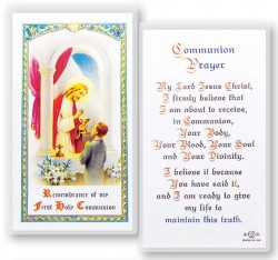 Communion Boy Laminated Prayer Cards 25 Pack [HPR672]