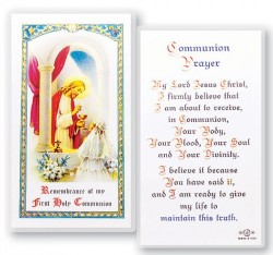 Communion Girl Laminated Prayer Cards 25 Pack [HPR673]