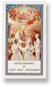 Communion Prayer Boy and Girl Laminated Prayer Cards 25 Pack [HPR697]