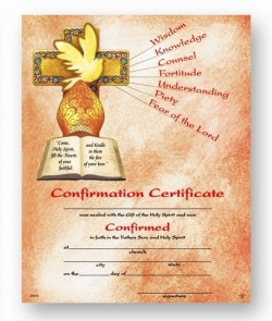 Confirmation Certificate with Gifts of the Spirit [HRC20030]