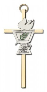 "Confirmation Chalice and Dove Wall Cross 4"" [CRB0012]"