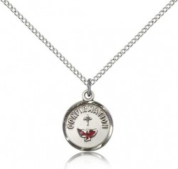 Petite Confirmation Medal with Dove Round [CM2270]