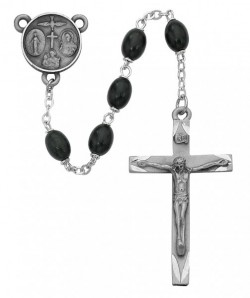 Confirmation Rosary with Black Beads [MVRB1007]
