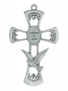 Confirmed in Christ Pewter Wall Cross 6 Inches [MV1014]