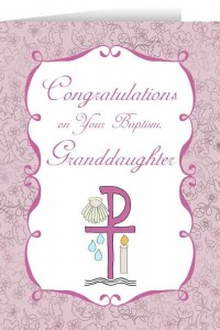 Congratulations on you Baptism Granddaughter Greeting Card [NGC002]