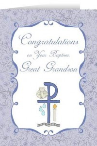 Congratulations on you Baptism Grandson Greeting Card [NGC001]