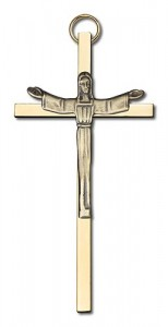 "Contemporary Risen Christ Wall Crucifix 4"" [CRB0008]"