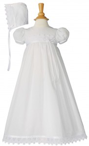 Cotton Christening Gown with Italian Lace [LTM0641]
