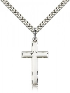 Matte Cross Pendant with Etchings [BM0931]