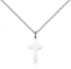 Small Rounded Cross Pendant [BM0163]