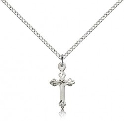 Beautiful Etched Tip Cross Necklace [BM0169]