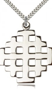 Men's Large Jerusalem Cross Pendant [BM0176]