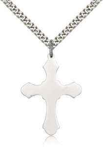 Budded Thick Cross Necklace [BM0215]