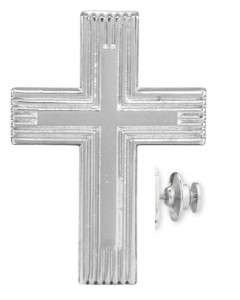 Cross on Cross Lapel Pin [HMLP017]