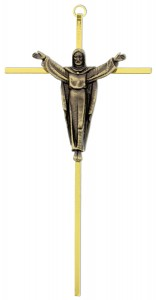 "Crucifix Brass Gold Risen Christ 10"" [SFA0020]"