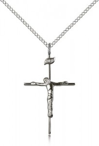 Slim Abstract Crucifix Necklace [CM2065]