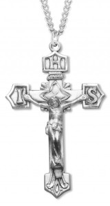 Crucifix Pendant with IHS Tips Sterling Silver [HM0708]