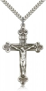 Men's Large Antiqued Crucifix Necklace [BM0258]