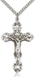 Men's Large Ornate Tip Crucifix Pendant [BM0266]