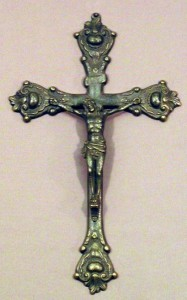 "Crucifix in Antiqued Brass - 12.5""H [GSCH1144]"