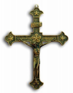 Crucifix in Antiqued Brass - 8.25 Inches [GSCH1142]