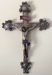 Crucifix in Bronzed Resin - 16 inches [GSCH008]