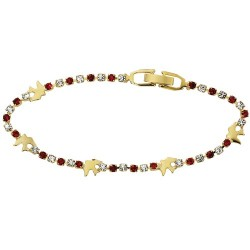 Crystal Confirmation Bracelet with Gold Doves [MVC0060]