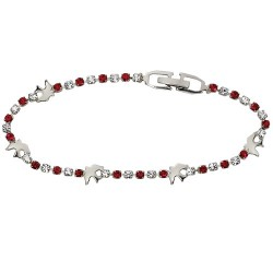 Crystal Confirmation Bracelet with Silver Doves [MVC0061]