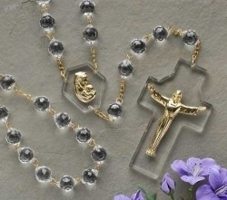 Crystal Wall Rosary 54 inch [RM0478]